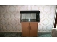 Rekord 96 litres Aquarium with beach effect cabinet