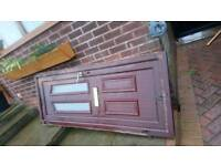 Pvc door no key ideal for garden shed or garage