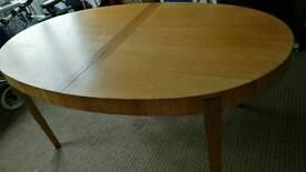 Large Extending IKEA Oak veneer dining table
