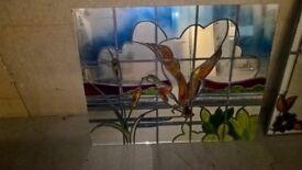 vintage leaded glass mirror - Grab a bargain