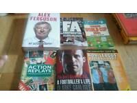 Football books autobiographies job lot