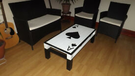 Ace of spades coffee table