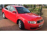 Audi A4 1.9 TDI quattro sport 6 speed brilliant red, black alcantara leather, mot due 6/17