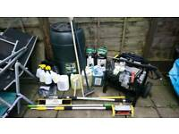 Pressure washer, patio & gutter cleaning items