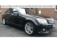 finance ava 2010 mercedes c220 diesel sport 67k miles trade in welcome