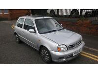 2002 Nissan Micra SE 16V, 1L, Silver, 3 Door Hatchback Part service history, £250