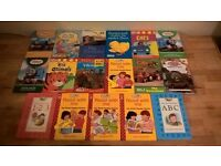 17 CHILDRENS BOOKS INCLUDING 11X LADYBIRD BOOKS 2X PERCY THE PARK KEEPER AND 4X THOMAS THE TANK