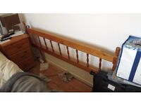 double bed LOVELY PINE SPARRED HEADBOARD, QUICK SALE ONLY £8