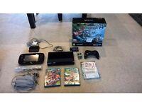 Nintendo Wii U 32GB black console MarioKart 8 edition with disc + Splatoon all original accessories