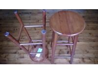 Pair of bar or kitchen stools