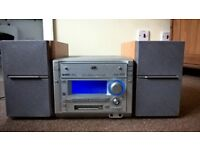 JVC MX-S6MDR Hi-Fi system with 3 Disc CD player and Minidisc MD MDLP recorder