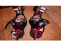 Ride single strap bindings, quick and easy in and out, in need of tlc