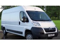 24-7 Man and Van House Moving Piano Delivery Hire Removal LONG WHEEL BASE Van for Moving & Clearance