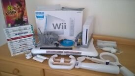 Nintendo Wii, 15 Games, Wii Fit Balance Board and accessories