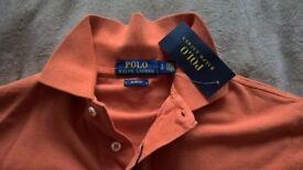 Ralph Lauren polo shirt size s in orange