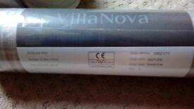 Villa Nova wallpaper. Stylish metallic silver. 1 roll unopened. 2 rolls open.