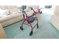 Drive Mobilty lightweight aluminium rollator walker near new condition