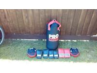 Boxing bag and kit