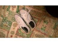 Size 6 - Great condition, genuine Ralph Lauren White Canvas Shoes