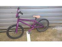 "GT BMX Bike Bicycle, 20"" wheels Purple, Gyro"