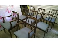 CHAIRS X 8 Lovely Solid Wood Dining Chairs