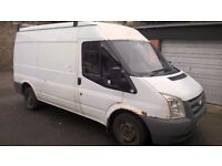 FORD TRANSIT VAN 2008 TAXED 01/06/18 REGULARLY SERVICED