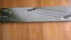 fusion chrome double towel rail