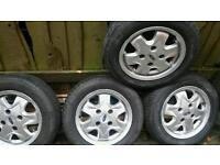 "13"" ford alloy wheels x4"
