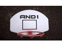 Basketball hoop and back board