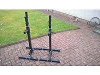 Pair of barbell squat racks for sale