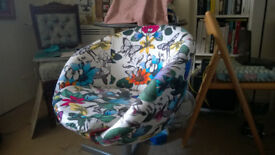 Egg / Tub chair * Osbourne & Little* Fabric , well used but in excellent condition