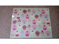 Cupcake glass chopping board excellent condition