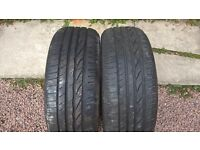 2 Bridgestone Turanza tires 205 55 16