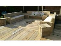 Reclaimed pallet and scaffold garden. Design, supply and fit