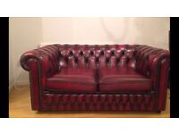 2 Seater // Saxon, Leather, Chesterfield Sofa