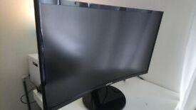 Samsung C24F390 24-Inch Curved LED Monitor - HDMI, VGA , Black