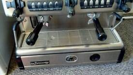 Commercial 2 groups italian coffre machine