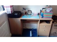 Studytable with laptop drawer
