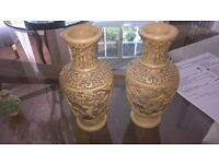 Pair of Resin Vases For Sale