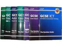 G.C.S.E revision guides x7 by cgp £5