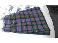 Traditional Tartan Kilt - 24in waist - 23in length