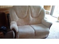 Two seater settee and two armchairs