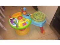 Bright starts baby walker and activity stations