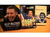 Glasgow Rangers book bundle Baxter Novo McCoist
