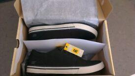 Caterpillar Men's Esteem Canvas Shoes - Black - Size 9