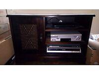 Solid mahogany style tv cabinet