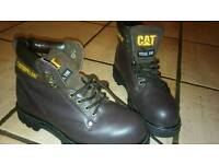 Caterpillar Sheffield Mens Wide Steel Toe Cap Safety Work Boots Size 7