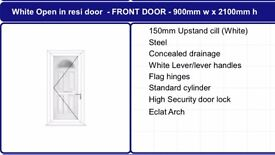 supply only front doors from £599