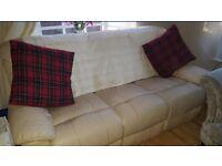 Leather sofa £20 each