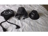 Leather look Trilby. Russian Tank drivers. snowboard hat - reduced